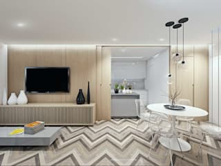 Living room by fpr Studio, Scandinavian