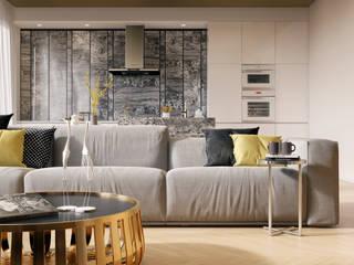 Salas de estilo minimalista de DEnew Minimalista