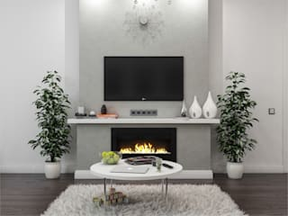 Private apartments|Частная квартира площадью 72 кв.м.:  Living room by Rosso