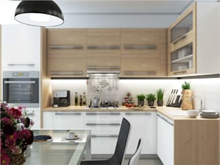 Private apartments|Частная квартира площадью 72 кв.м. Modern kitchen by Rosso Modern