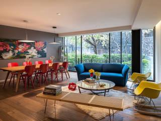 Projekty,  Salon zaprojektowane przez MAAD arquitectura y diseño