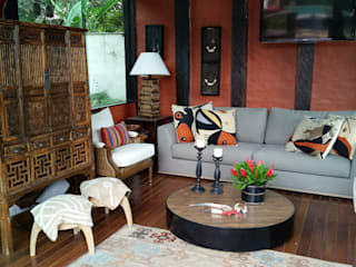 Country style living room by Gláucia Britto Country
