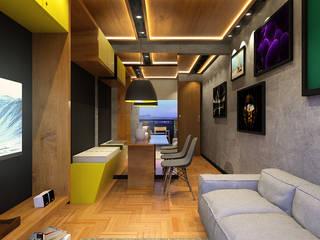 Lar 104: Salas de estar  por Julian Seifert Arquitetura