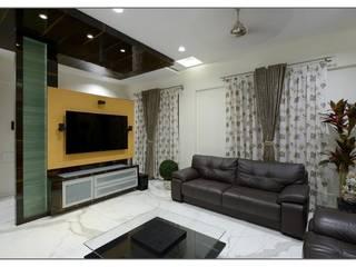 Bungalow project Modern living room by CK Interiors Pvt Ltd Modern