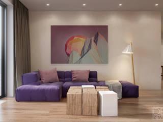 Яркие акценты в уютной киевской квартире: Гостиная в . Автор – DEnew