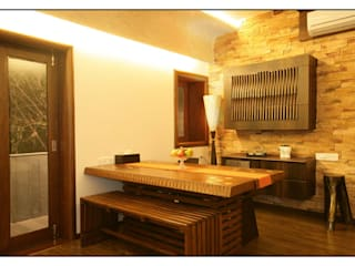 Konnur site Modern dining room by CK Interiors Pvt Ltd Modern
