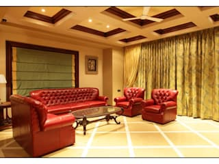 Rahul Construction Pune:  Living room by CK Interiors Pvt Ltd