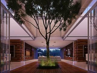 Modern Corridor, Hallway and Staircase by TNGNT arquitectos Modern