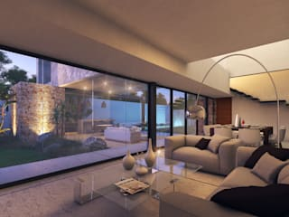 Living room by TNGNT arquitectos, Modern