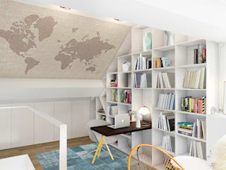 Lesbroussart Bureau scandinave par ZR-architects Scandinave