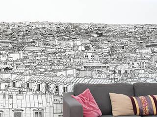 http://www.ohmywall.com/product/Papier-peint-Vue-de-Paris-Montparnasse%20Tour%20Eiffel-Big-Panoramique-Thomas-Lable-alias-Materz par Ohmywall Moderne Papier