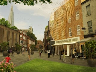 Southwark Serviced Apartments:   by Debbie Flevotomou Architects Ltd.