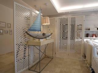 Pasillos, vestíbulos y escaleras de estilo moderno de Ines Calamante Diseño de Interiores Moderno