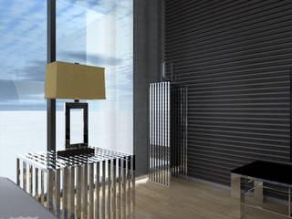 Дом в стиле минимализм на побережье Черного моря. Москва, 2010г.: Медиа комната в . Автор – CHM architect