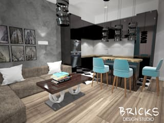 Легкость лофта Кухня в стиле лофт от Bricks Design Лофт