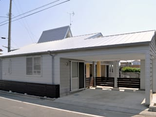 Modern garage/shed by モリモトアトリエ / morimoto atelier Modern
