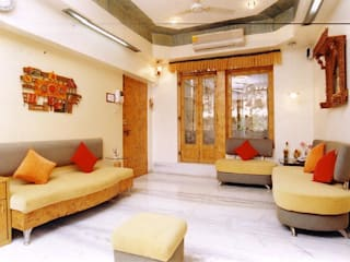 Modern living room by NAMAN INTERIORS - Turnkey Interior Contractors Modern