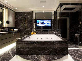 Park Lane Penthouse: modern Bathroom by Debbie Flevotomou Architects Ltd.