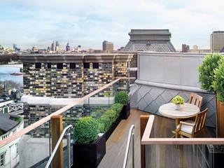 Corinthia Hotel Penthouses Modern balcony, veranda & terrace by Debbie Flevotomou Architects Ltd. Modern