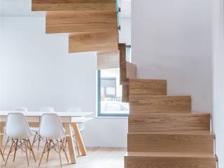 BRODA schody-dywanowe Corridor, hallway & stairsStairs Gỗ