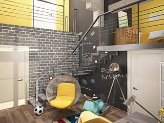 Детская для активного ребенка Детская комната в стиле лофт от MEL design Лофт