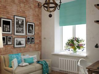Лофт в небольшой квартире: Спальни в . Автор – MEL design