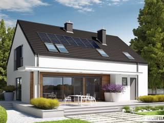 PROJEKT DOMU E4 G1 ECONOMIC (wersja A) Nowoczesne domy od Pracownia Projektowa ARCHIPELAG Nowoczesny