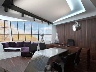 Oficinas de estilo moderno de Студия дизайна интерьера Руслана и Марии Грин Moderno