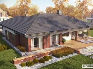 PROJEKT DOMU DOMINIK G2 (WERSJA B) : styl , w kategorii Domy zaprojektowany przez Pracownia Projektowa ARCHIPELAG,Nowoczesny