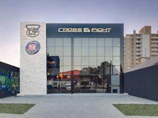 Academia Espaços comerciais modernos por Letícia Bowoniuk Arquitetura e Interiores Moderno