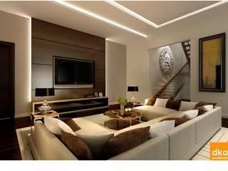 Pent house Modern living room by Dutta Kannan Partners Modern