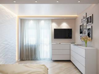 студия визуализации и дизайна интерьера '3dm2' Livings de estilo minimalista Blanco