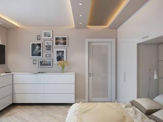 Проект 046: квартира на Борисовских прудах: Гостиная в . Автор – студия визуализации и дизайна интерьера '3dm2', Минимализм