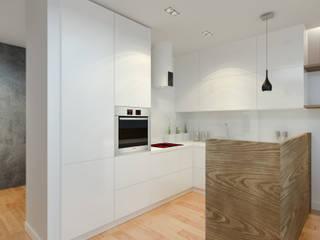Nowoczesny apartament: styl , w kategorii Kuchnia zaprojektowany przez Pracownia Aranżacji Wnętrz 'O-Kreślarnia'