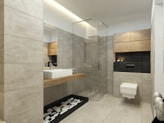 Modern bathroom by Pracownia Aranżacji Wnętrz 'O-Kreślarnia' Modern