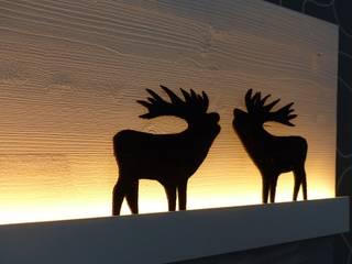 """Leuchtbild """"Röhrende Hirsche"""":   von DW Design & Wohnen"""