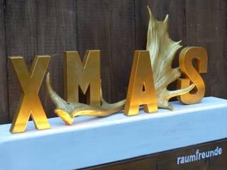 Goldenes Geweih mit Beleuchtung XMAS:   von DW Design & Wohnen