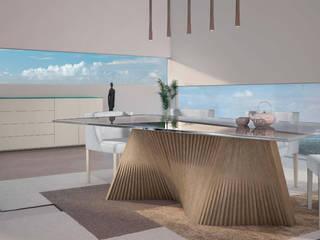 Mobiliário moderno de sala de jantar Modern furniture of dining room www.intense-mobiliario.com  Asha http://intense-mobiliario.com/product.php?id_product=3536:   por Intense mobiliário e interiores;