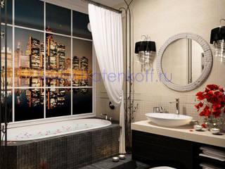 Дизайн проект ванной комнаты Ванная в классическом стиле от homify Классический Плитка