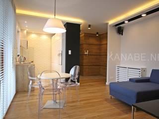 Męskie wnętrze: styl , w kategorii Salon zaprojektowany przez KANABE,