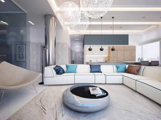 Hudson St. USA: modern Living room by KAPRAN DESIGN  (interior workshop)