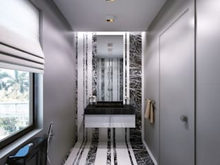 BATHROOMS: modern Bathroom by KAPRAN DESIGN  (interior workshop)