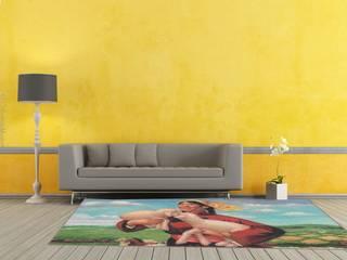 """Teppich """"Lucky Farm"""" - Landleben Komm! - Wohnzimmer im Landhausstil von ¡Colorista Moderna! Landhaus"""