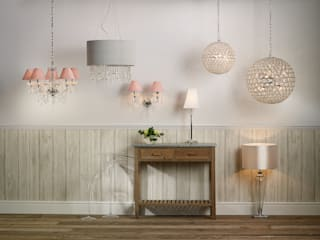 Lampenwerk LIZARD Hängelampen mit Kristallglas-Applikationen: modern  von homify,Modern