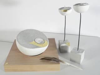 Portacandele: Semi-sphaera e Fildifuoco di Ceramica Artistica di Chiara Cantamessa Moderno