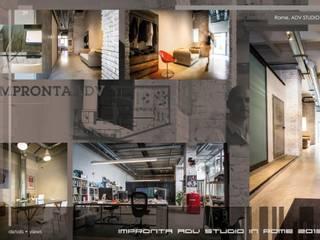 Impronta ADV Studio in stile industriale di Stefano Panero Oddi Nyeusi Design Industrial