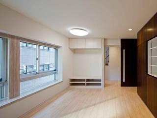 都心の家 NY邸 モダンデザインの リビング の 細江英俊建築設計事務所 モダン
