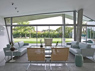oda - oficina de arquitectura Ruang Keluarga Modern