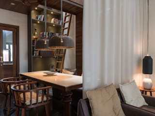 Dining_Under Atrium:  Dining room by Design Plus