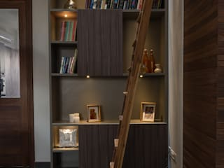 Double Height Library :  Study/office by Design Plus